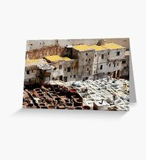 Tannery, Fes Morocco Greeting Card