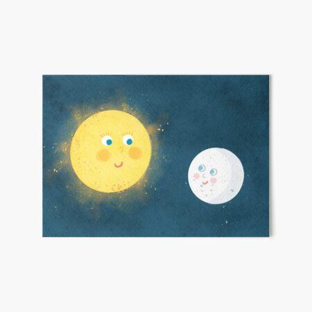 Sun and moon buddies Art Board Print