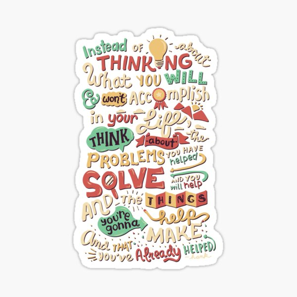 Solving Problems, Making Things Sticker