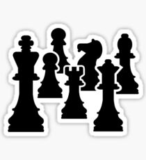 Chess board game Sticker