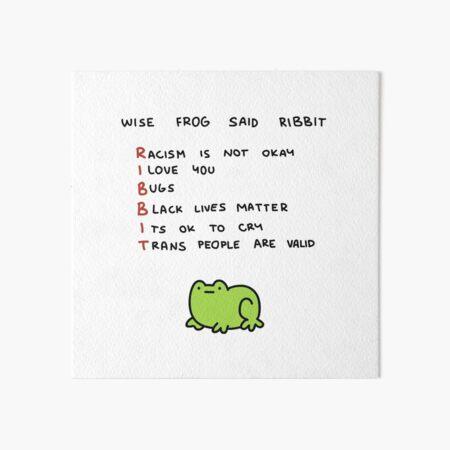 wise frog Art Board Print