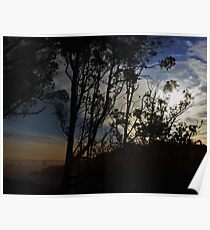 Distant City at Dawn Poster