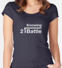 GI Joe: Knowing is half the battle (army green drab) Women's Fitted Scoop T-Shirt