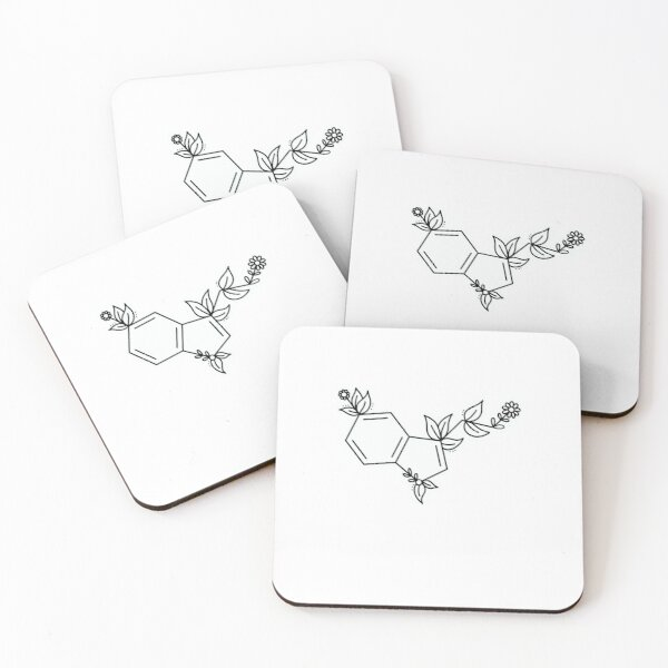 Floral Serotonin Coasters (Set of 4)
