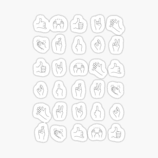 Waving Emoji Stickers Redbubble