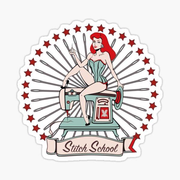 Scarlett's Stitch School (without the 'Scarlett') Sticker