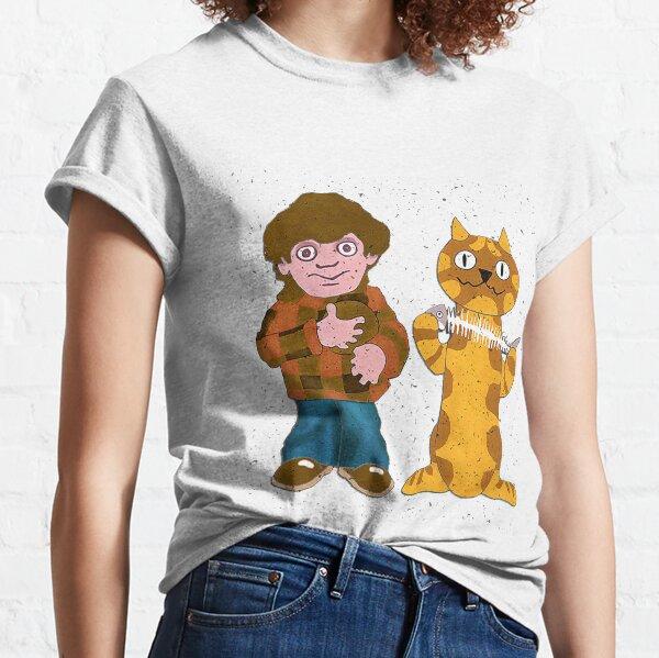 Charlie Says 1970s British Nostalgia - Charley Says And Cat t shirt - Charley Says t-shirt Classic T-Shirt