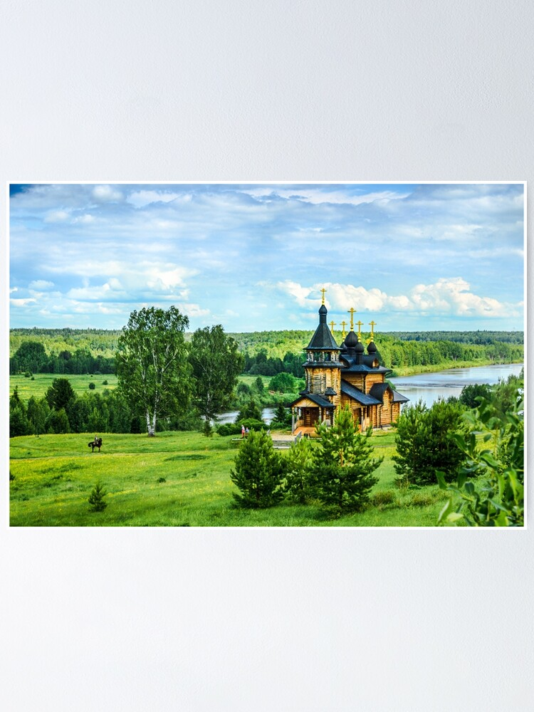 Alternate view of Russian landscape Poster