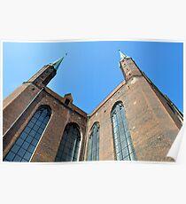Gothic basilica, Poland. Poster