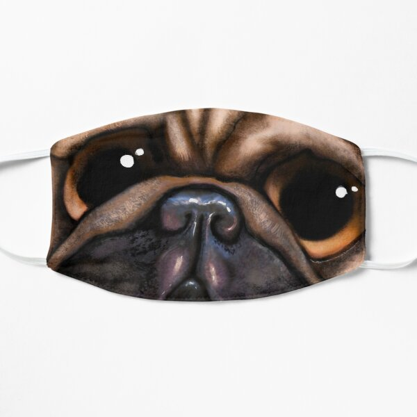 French bulldog with love message Flat Mask