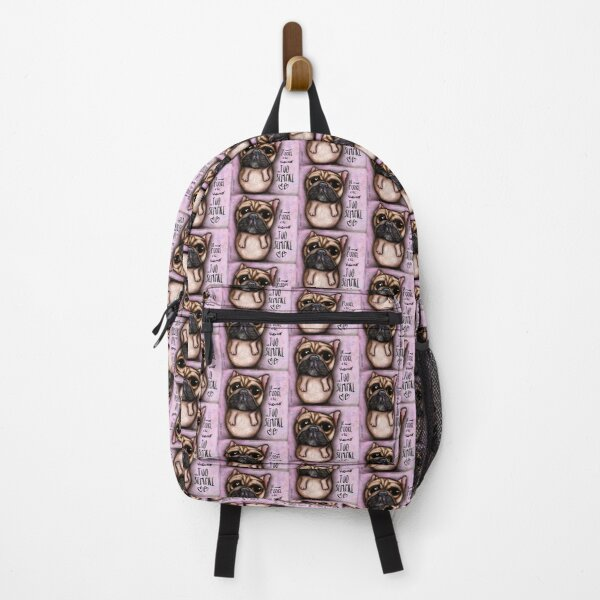 French bulldog with love message Backpack