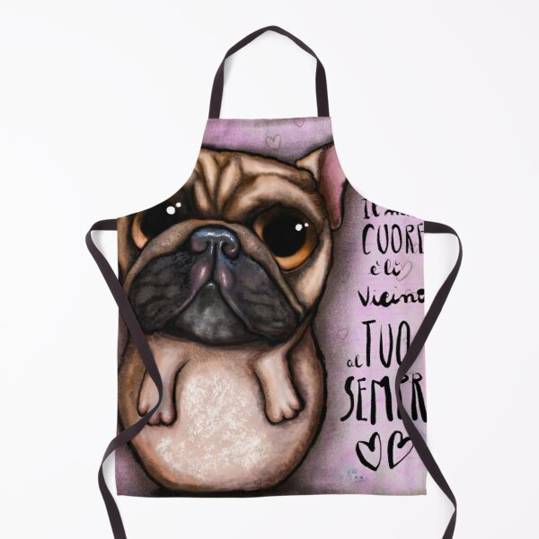 French bulldog with love message Apron