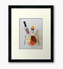 Spicy Pork Chops Framed Print