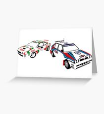 Sega Rally Tribute - Lancia vs Toyota Greeting Card