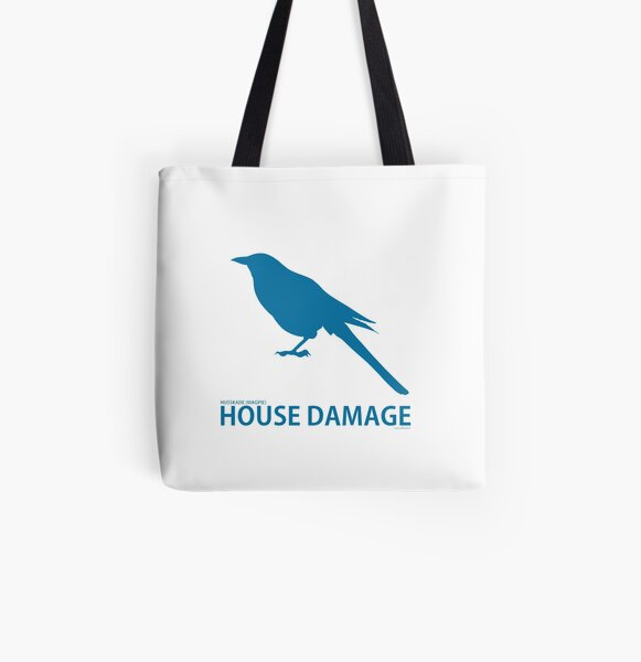 Silhouette of a Magpie illustration (Literal Danish) - Husskade  All Over Print Tote Bag