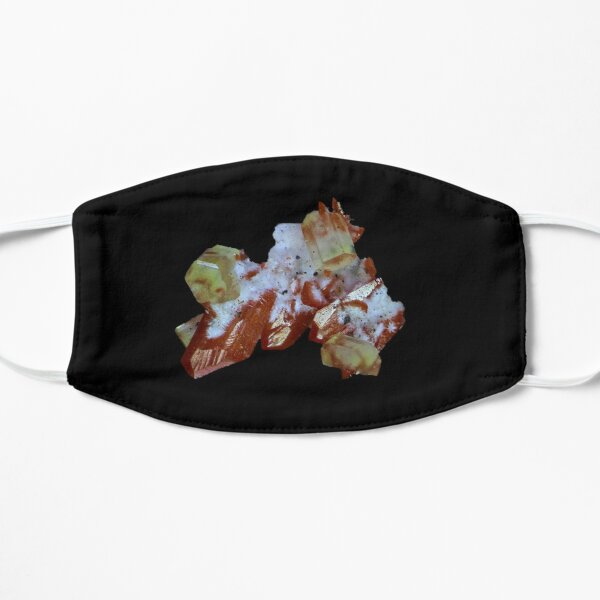 Crocoite, Cerussite, Dundasite, Kapi Mine, Tasmania Mask