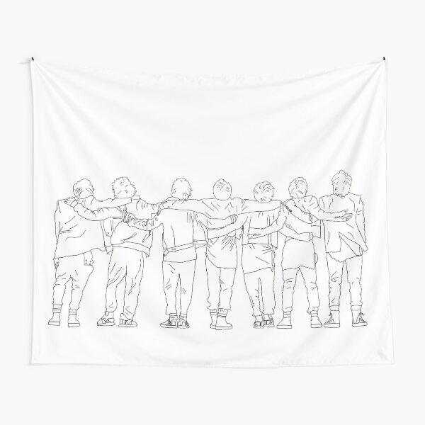BTS ON Map of the Soul 7 mv design Tapestry