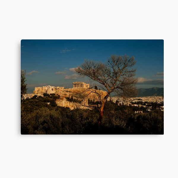 The Athens Acropolis and Cityscape Canvas Print