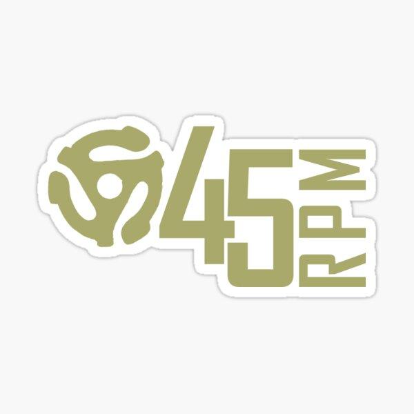 vinyl 45rpm Sticker