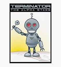 Terminator Alpha Black Photographic Print