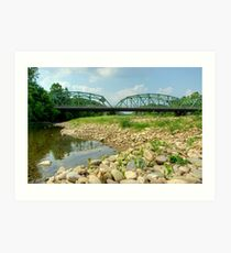 Old Montoursville Iron Bridge Art Print