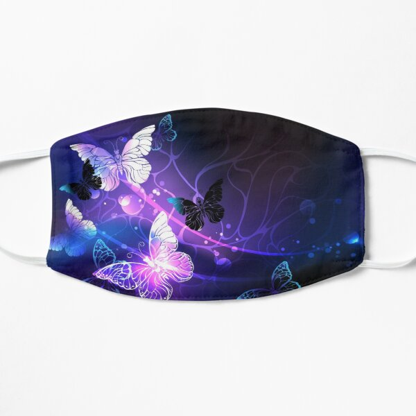 Background with Night Butterflies Mask