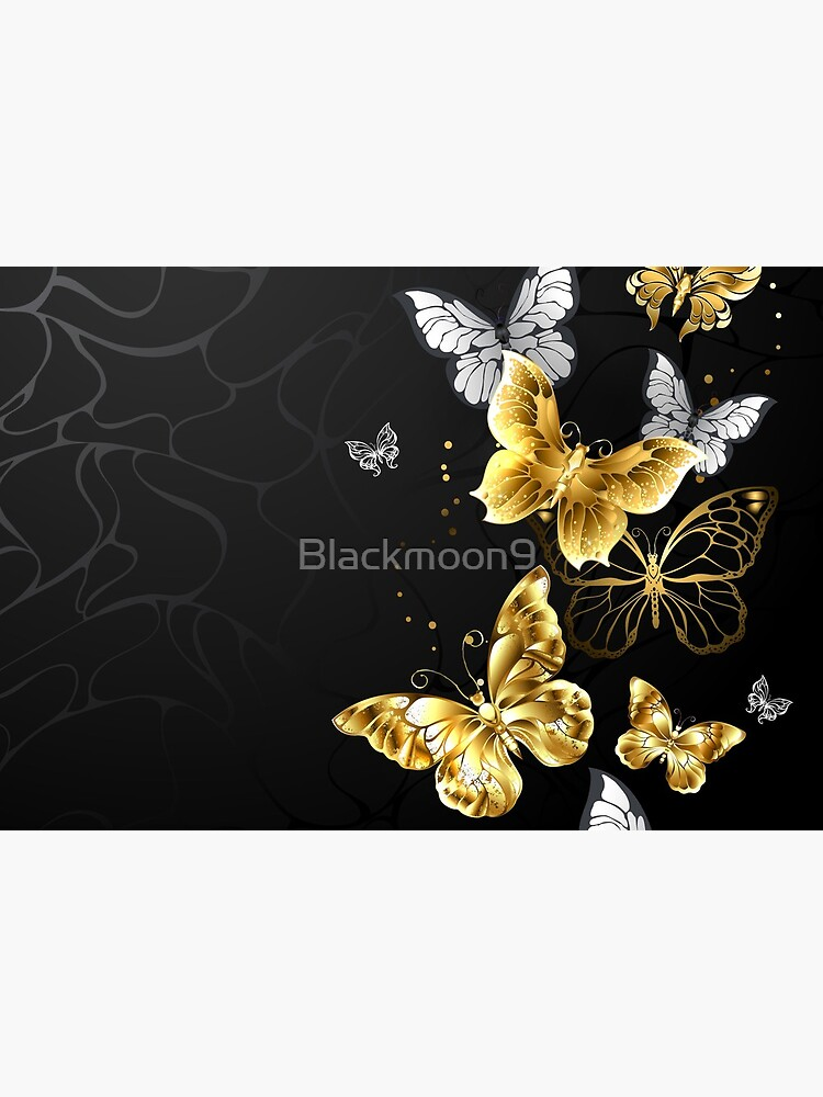 Gold and White Butterflies by Blackmoon9