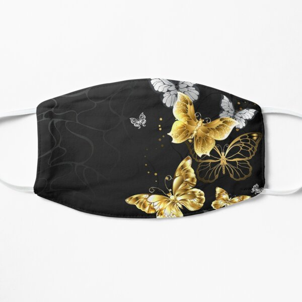 Gold and White Butterflies Mask