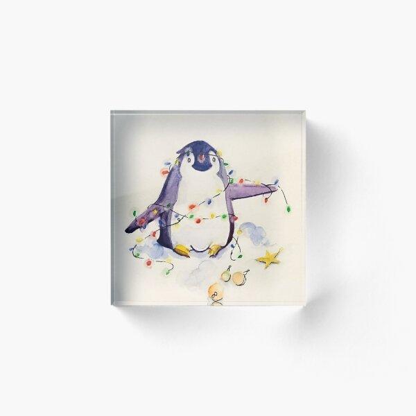 christmas penguin Acrylic Block