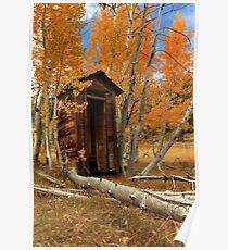 Outhouse In The Aspens Poster