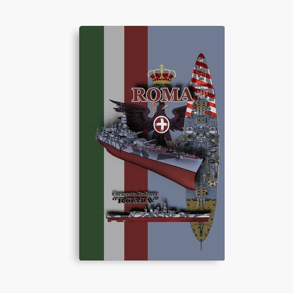 """ROMA"" battleship Canvas Print"