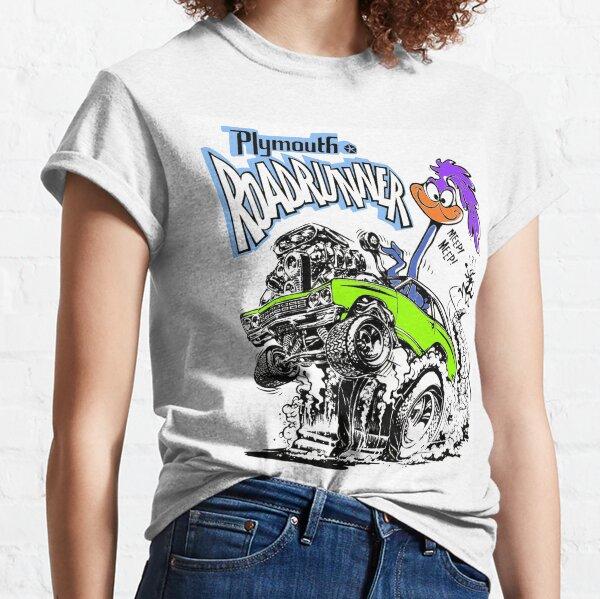 Odd Rods Plymouth Roadrunner - Lime Green Classic T-Shirt