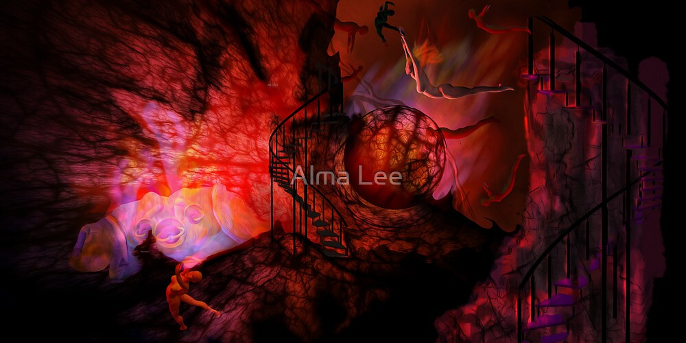 The Descenting: There is a way that seems Right onto Man... by Alma Lee