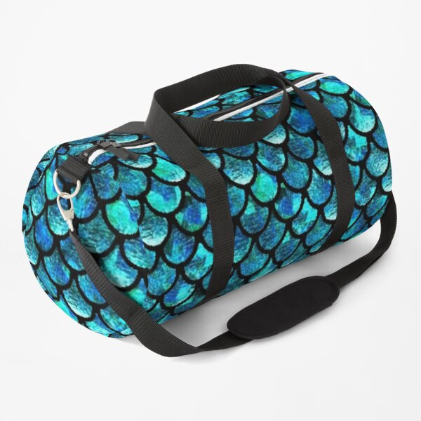 Mermaid Scales - Turquoise Blue Duffle Bag
