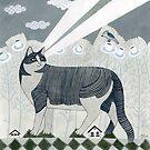 Beaming Cat by Yuliya Art