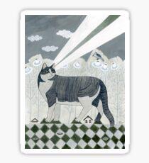 Beaming Cat Sticker