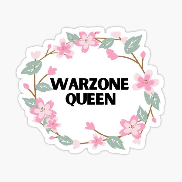 Reina de la zona de guerra Pegatina