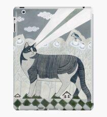 Strahlende Katze iPad-Hülle & Klebefolie