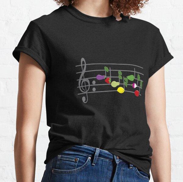 PENTAGRAMA MUSICAL AFRUTADO Camiseta clásica