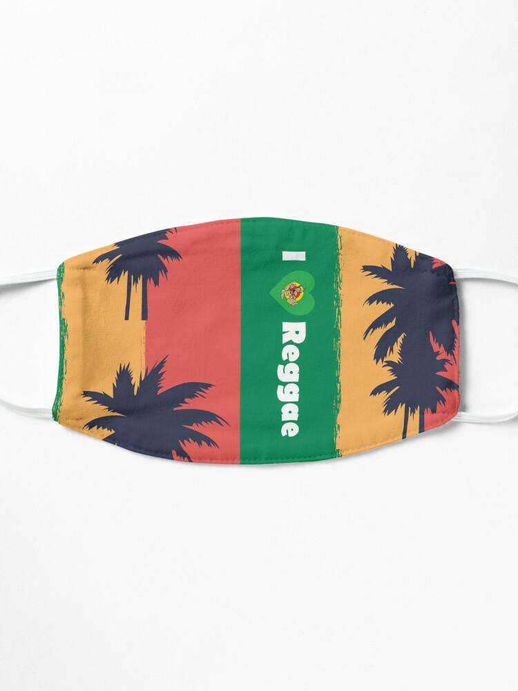 Alternate view of I love Reggae ! Mask
