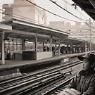 Waiting for the Ginza Train by Ellen Cotton