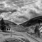 The way out of town - B&W by Tom Gomez