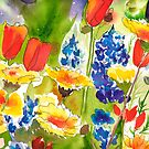 Lupine and California Poppies by Sally Griffin