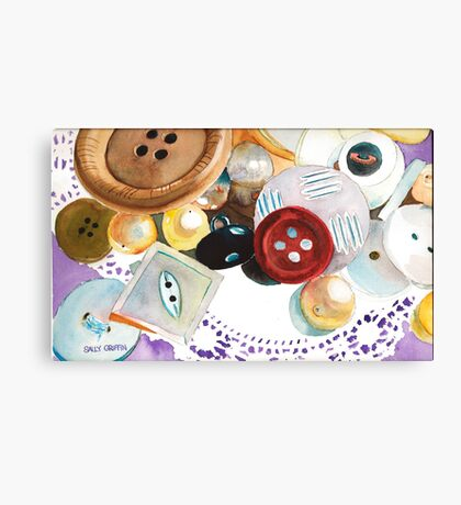 Doilies and Buttons Canvas Print
