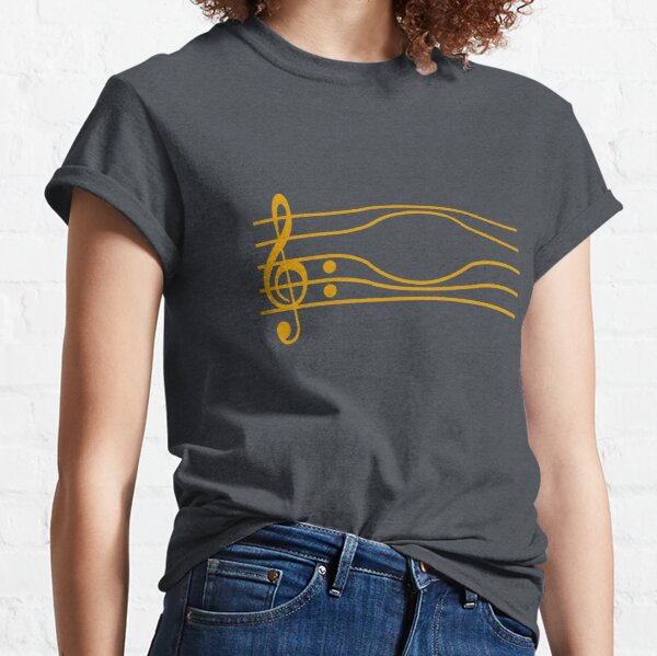 PENTAGRAMA MUSICAL FORZADO Camiseta clásica