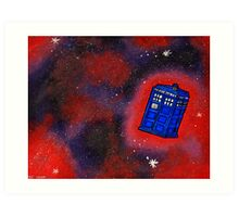 Police Box in Flight Art Print