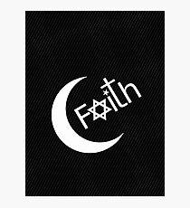 Faith - Carbon Fibre Finish Photographic Print