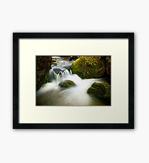 Mountain Stream Waterfall Framed Print