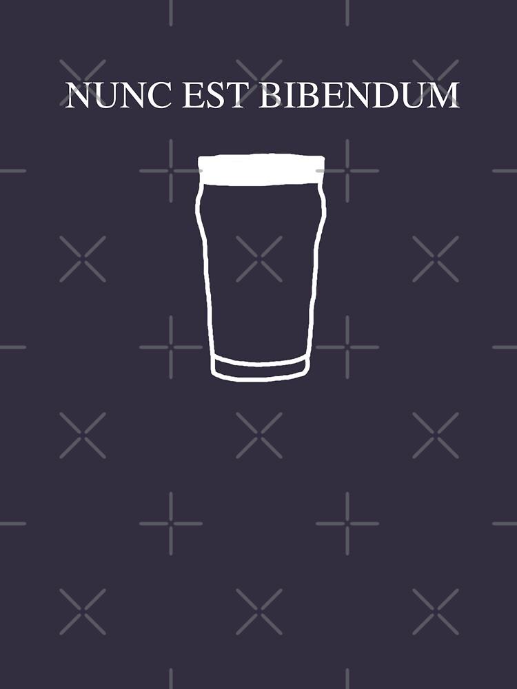 Nunc est bibendum - (Now is the time to drink) Latin T shirt by BlueShift