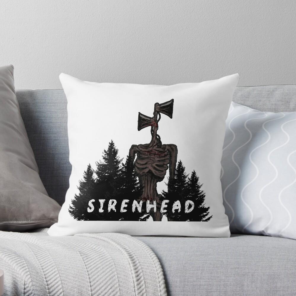 Sirenhead Siren Head Creepypasta Horror Character, Are you afraid Throw Pillow